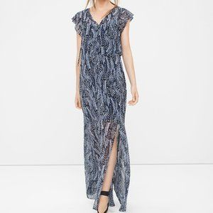 WHBM Feather Print Maxi Dress Small